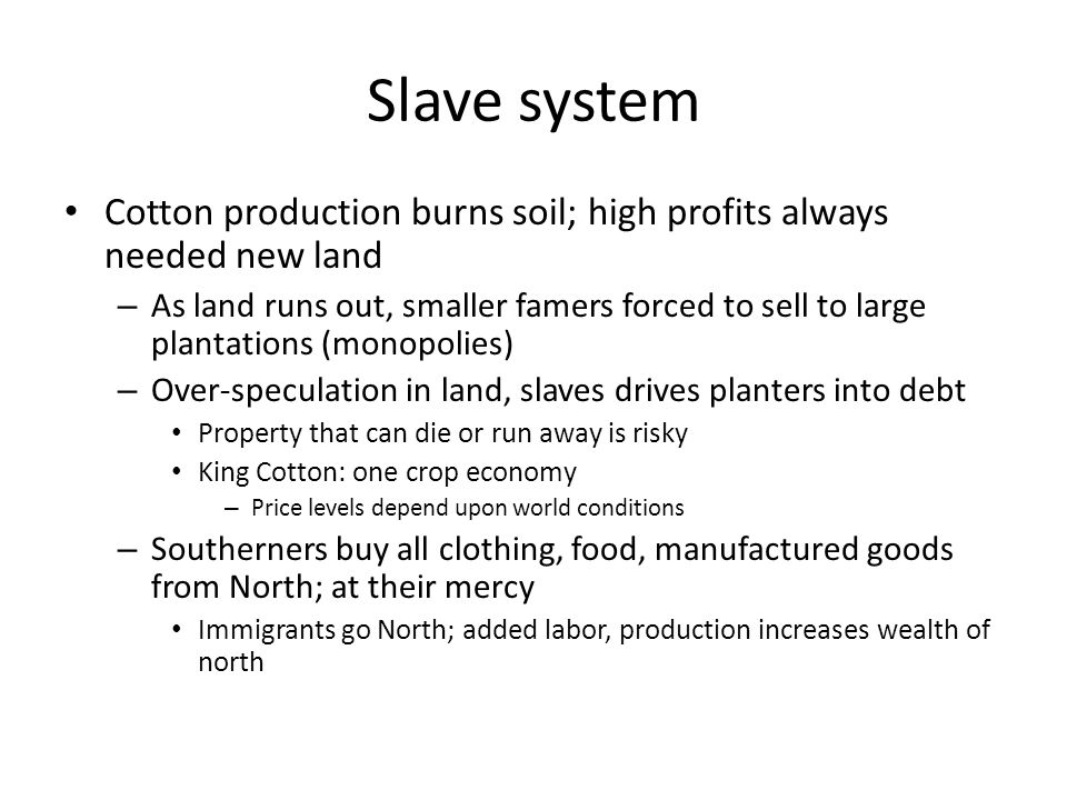 The south the slavery controversy ppt download for Soil king productions