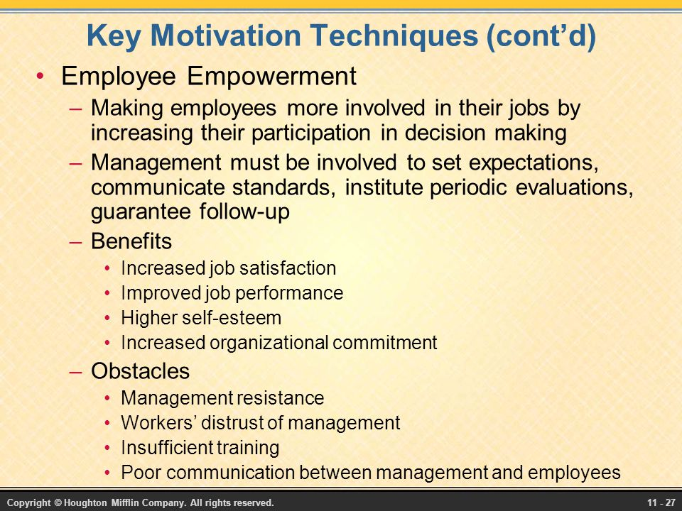 the employee motivation techniques Is there a disconnect between the goals of your safety program and the behaviors  of your employees try reevaluating how you motivate them.