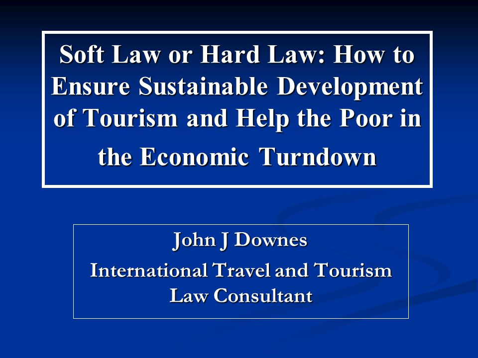Tourism Legislation and Regulation