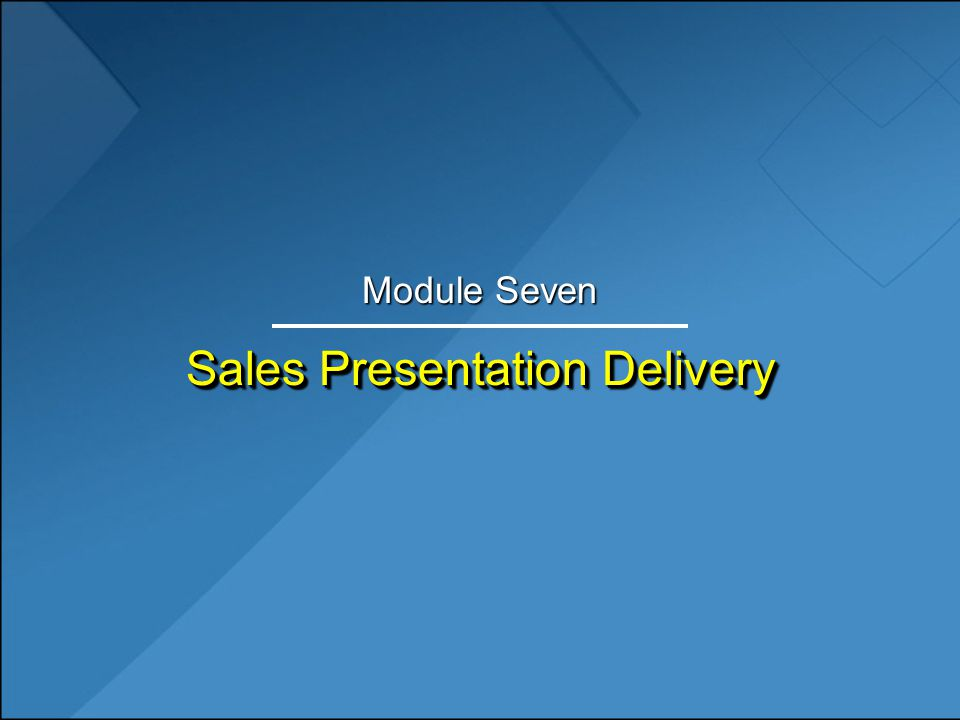 Sales Presentation Delivery - Ppt Download