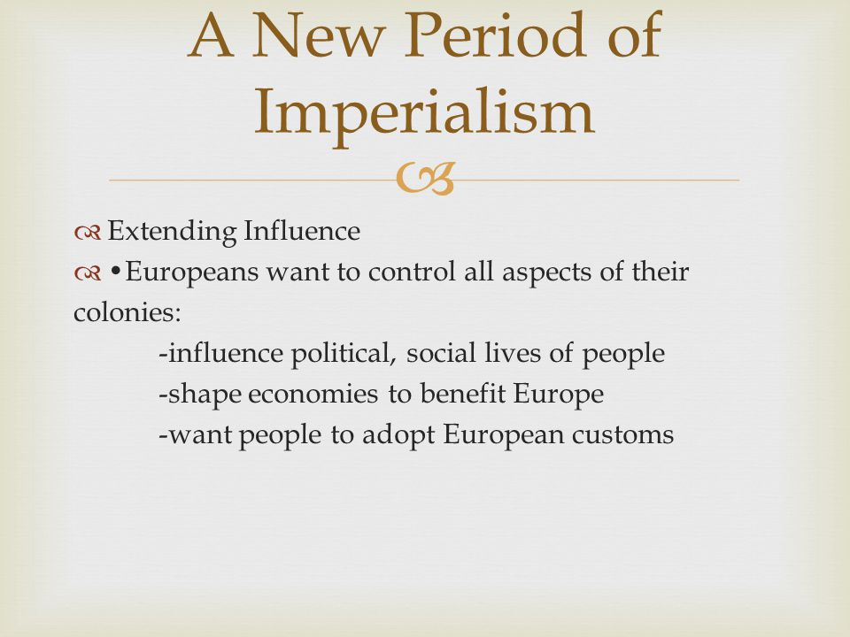 A New Period of Imperialism