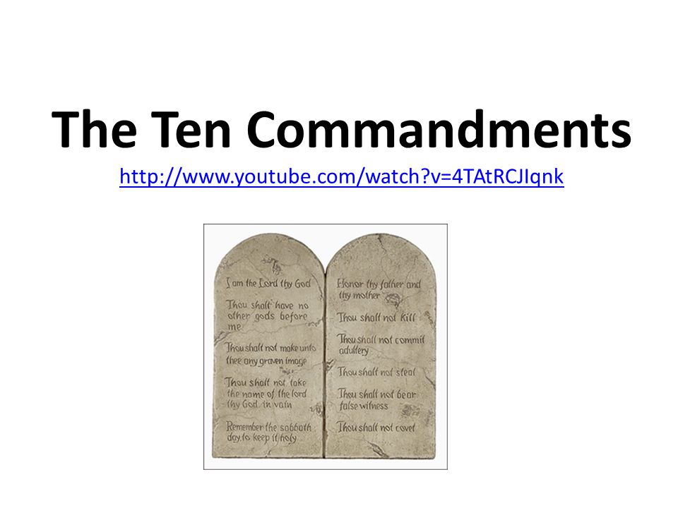 God Gave These Commandments To Moses On Mount Sinai As Two Stone Tablets.  They Are The Moral Foundation Of Both The Jewish And Christian Beliefs.