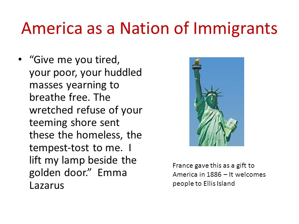 a nation of immigrants The first immigrants to settle in what is now the united states were the ancient ancestors of modern native americans the precise routes of those first north.