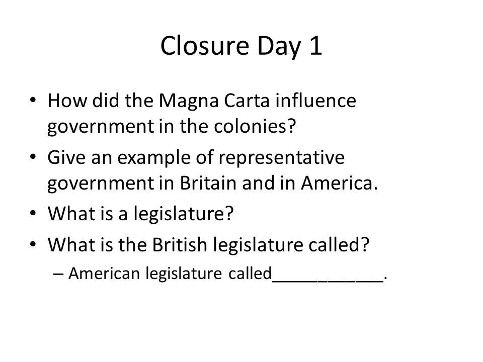 British History, 8: Government in the 18th C.