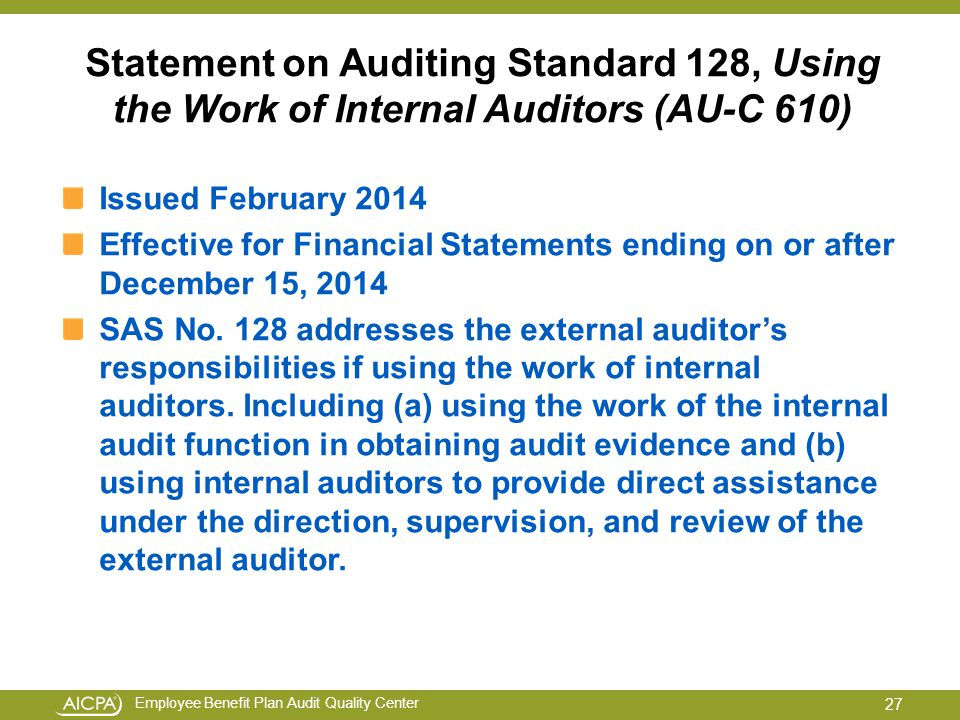 using the work of an auditors When the group auditor decides to use the work of a related or other auditor in the audit of group financial statements, the group auditor should determine how the work.