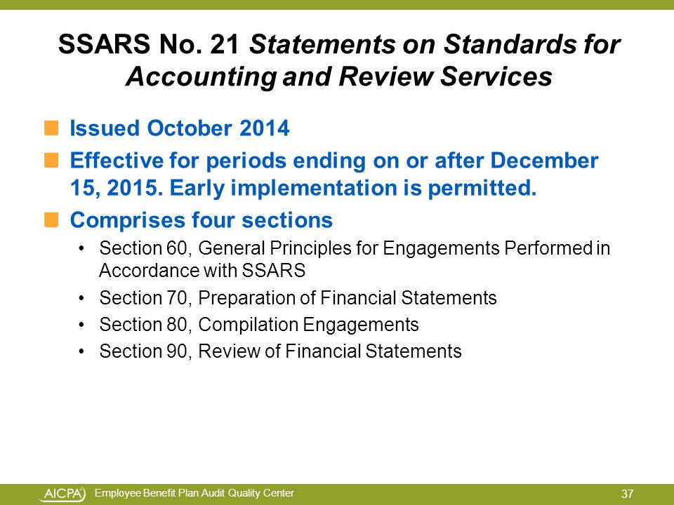 "standards for accounting and review services Aicpa's accounting and review services committee completes ssars no 21 as part of its four-year clarity project, the american institute of certified public accountants' (""aicpa"") accounting and review services committee (""arsc"") has finalized a document to reformat nearly all of the arsc's guidance with clarified versions."