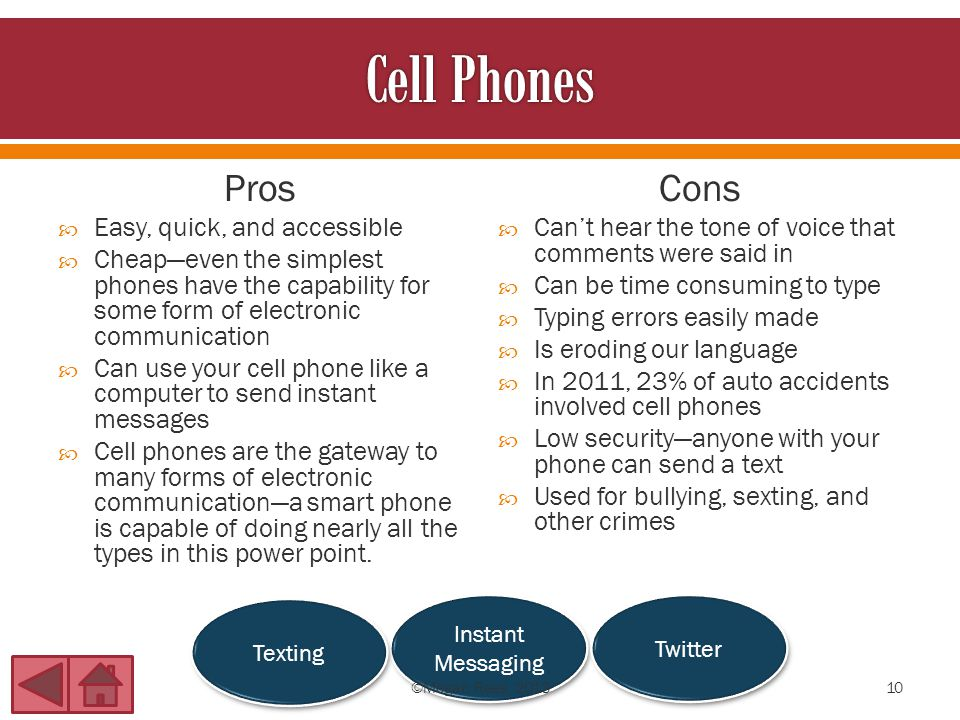 smartphones pros and cons Pros and cons of cell phones becoming a major part of children's lives cell phones are becoming an extremely popular electronic for people to purchase and in some instances they are even replacing house phones.