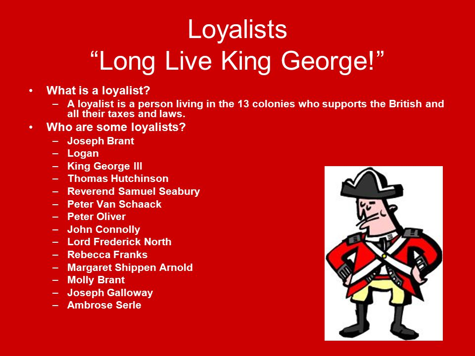 the loyalists and their arrival essay Essays various views on subjects regarding american history contributed by various authors all views presented are the responsibility of the authors.