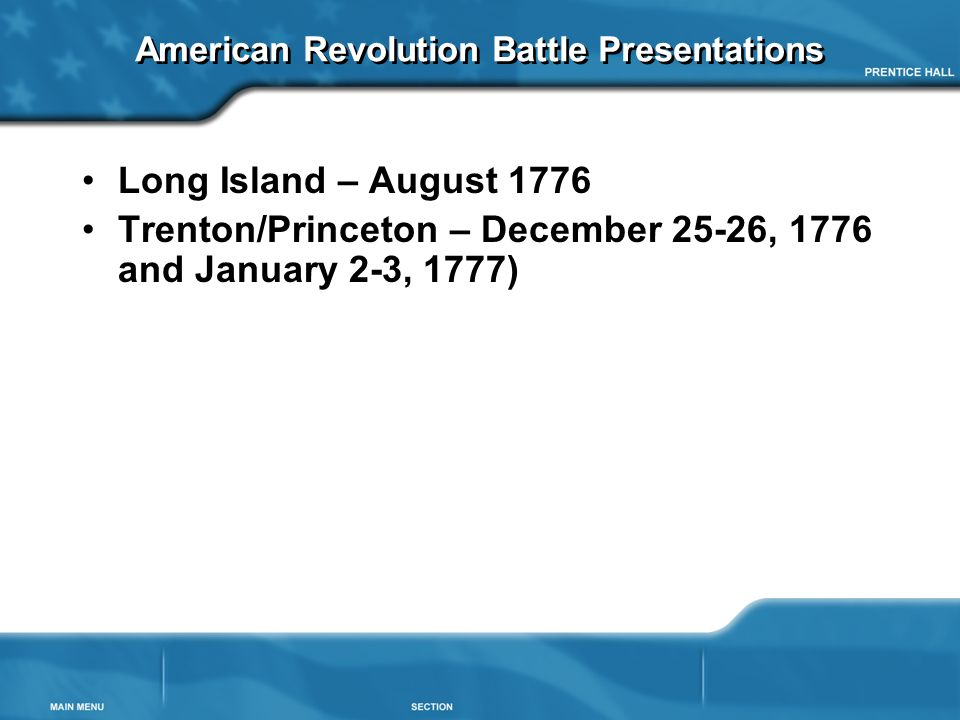 Battle Of Long Island Trenton And Princeton Ppt