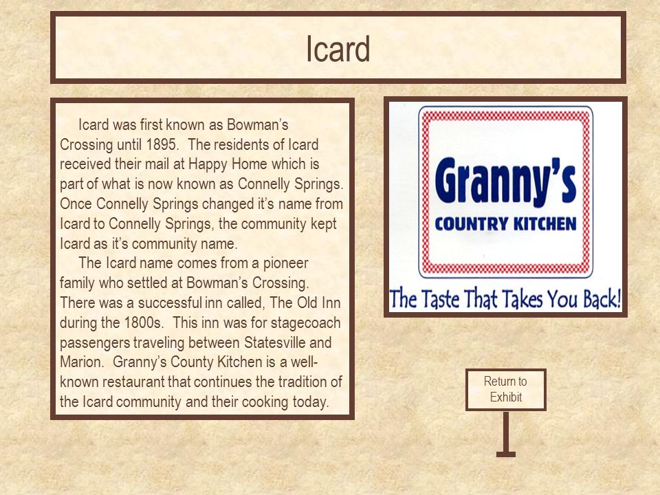Granny S Kitchen Icard