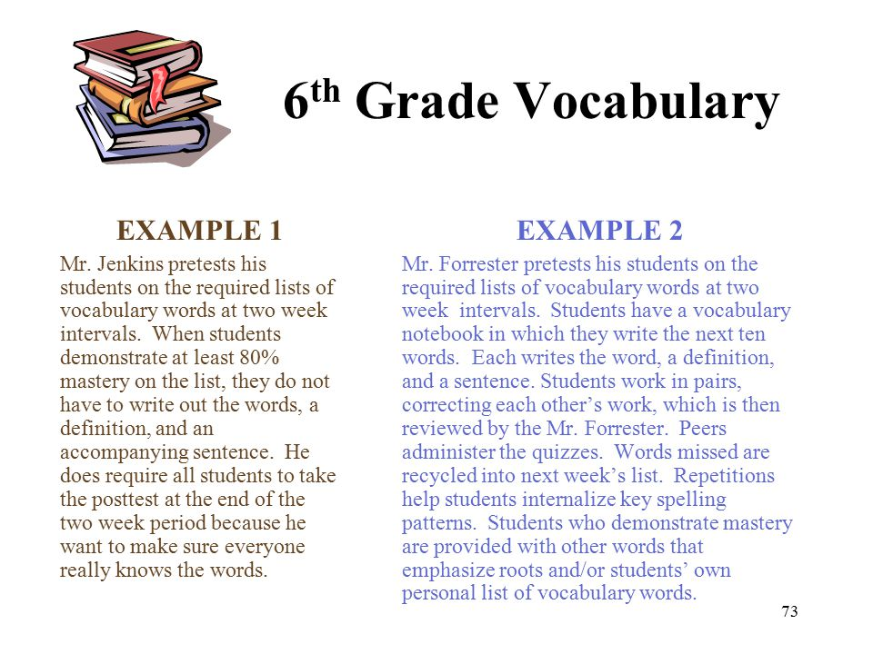 6th grade vocabulary words and definitions pdf