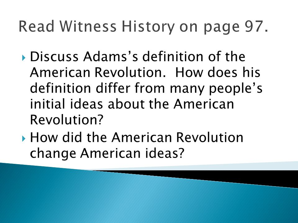 U.S. History Standard 3 SSUSH3: Explain the primary causes ...