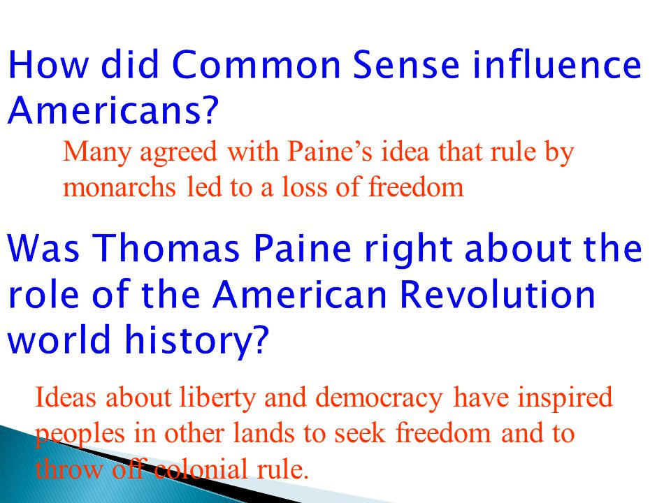 the role and influence of thomas paine on american history The pamphlet probably had little direct influence on the paine's role in the foundation of [the national convention's american, thomas paine.