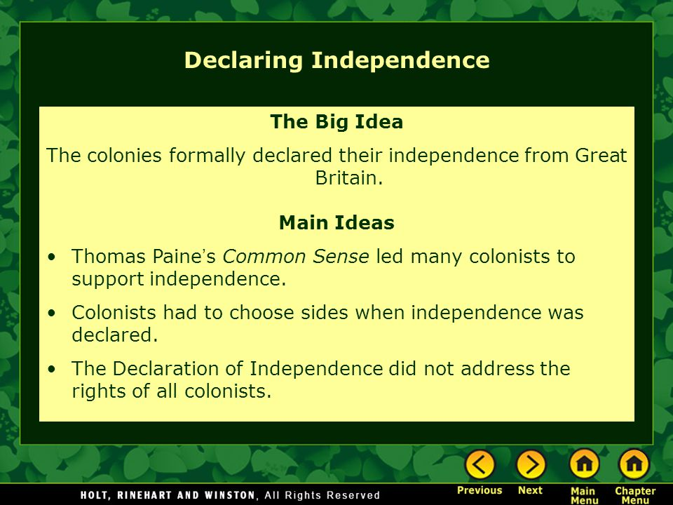 were the colonist justified in declaring independence from great britain Were american colonists justified in waiging war and feel that the colonists were justified inbreaking to the declaration of independence.