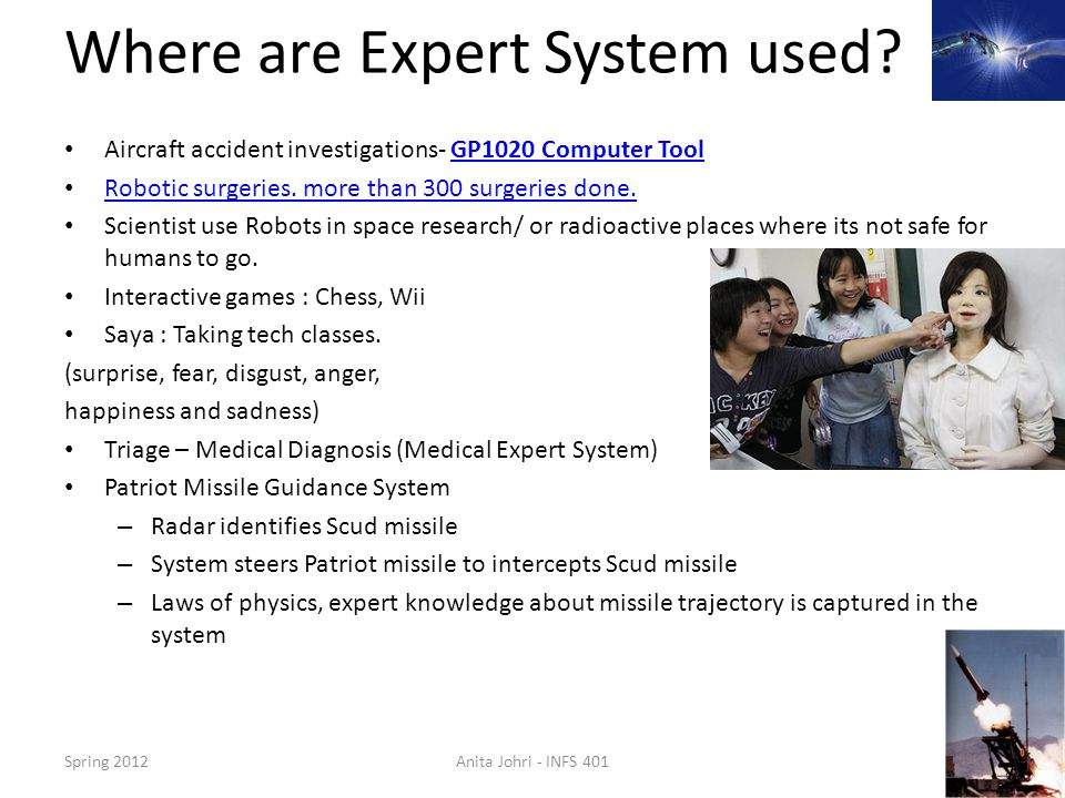 Where are Expert System used