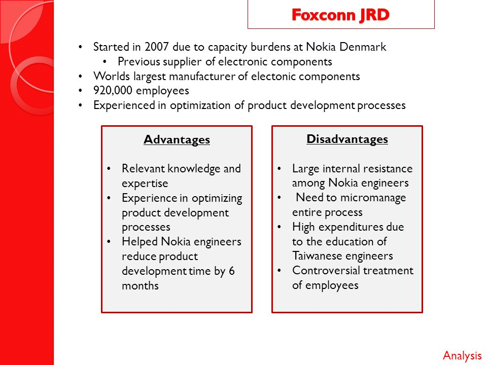 foxconn financial analysis The response of foxconn's management is presented and the  foxconn technology group (b)  and why currently isolated financial and sustainability reporting.