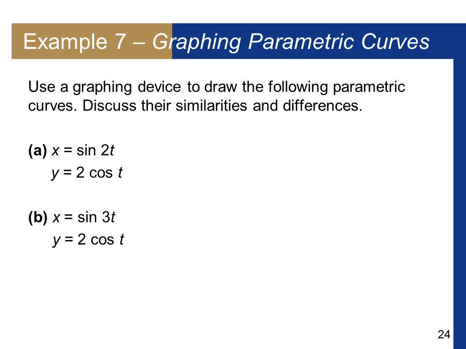 Example 7 – Graphing Parametric Curves