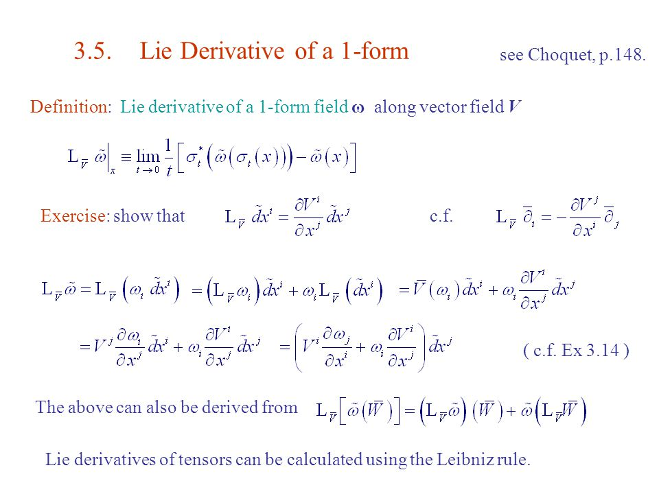 3 Lie Derivatives And Lie Groups Ppt Download