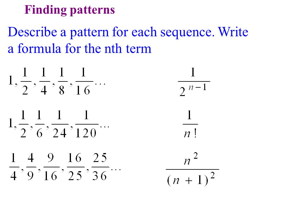 write an equation for the nth term of each arithmetic sequence