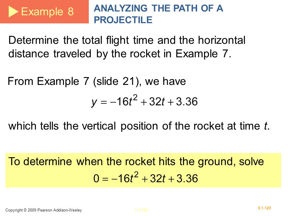 From Example 7 (slide 21), we have