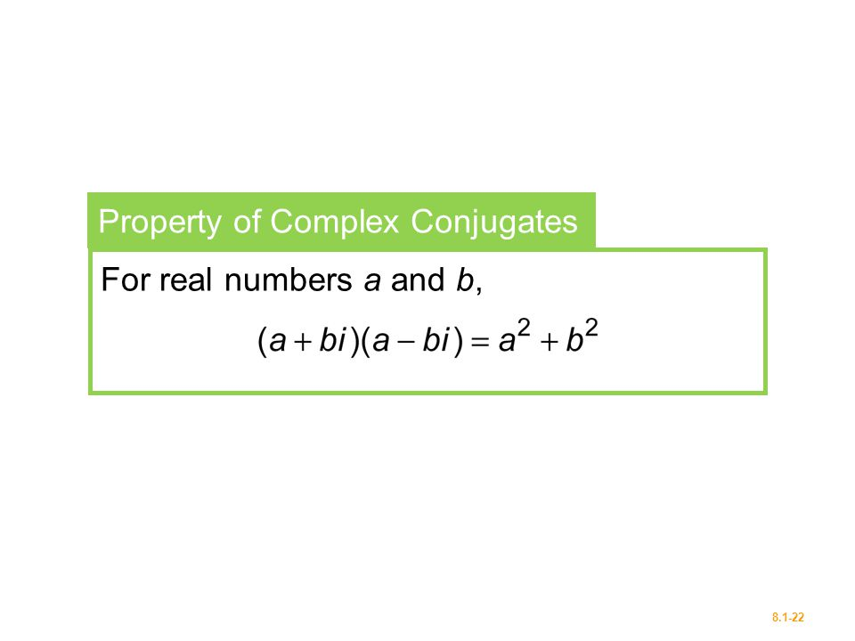 Property of Complex Conjugates