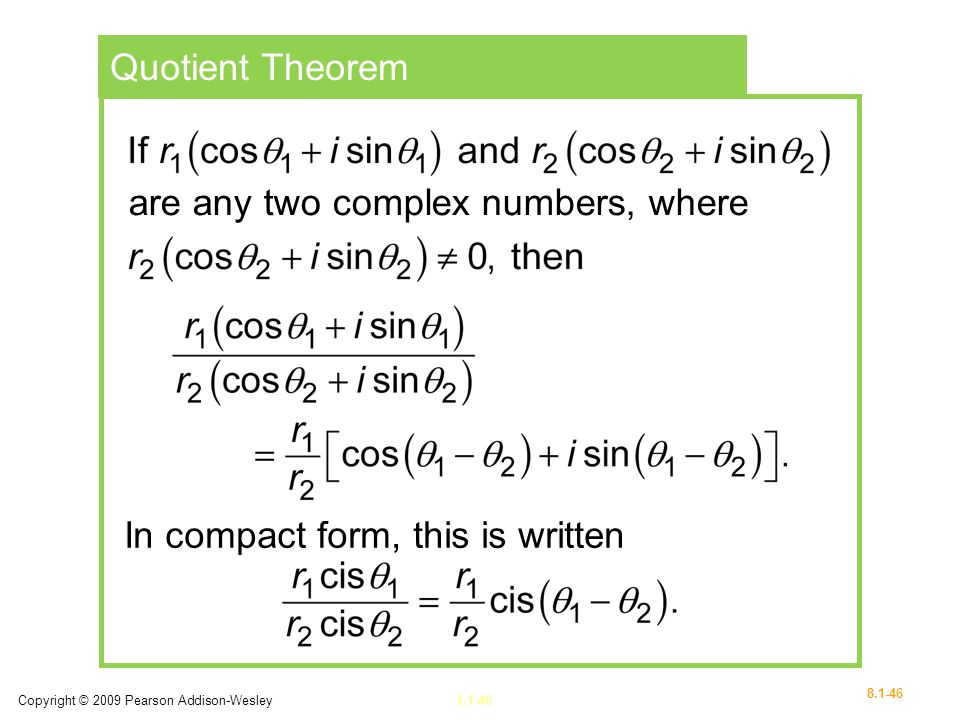 are any two complex numbers, where