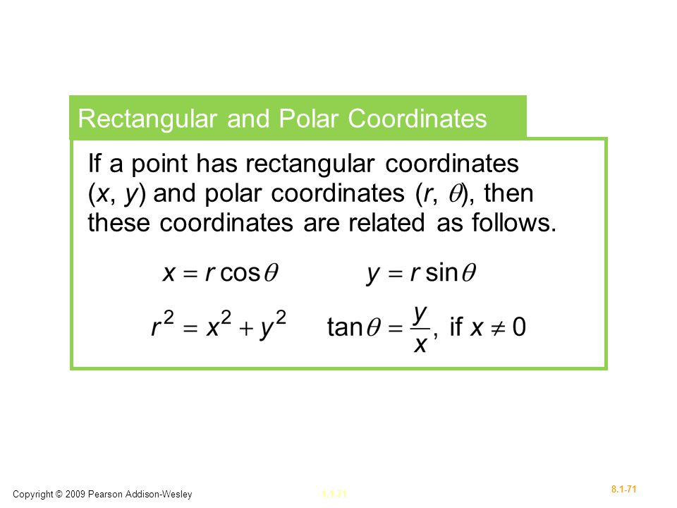Rectangular and Polar Coordinates