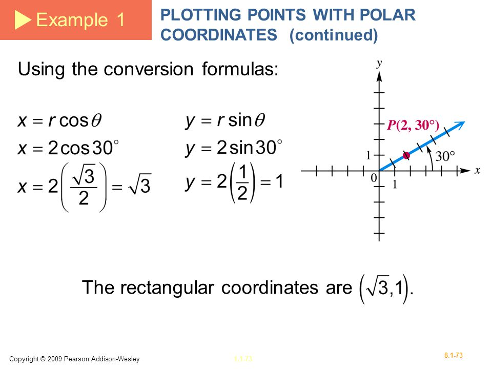 Using the conversion formulas:
