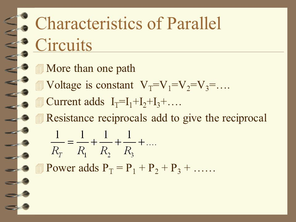 Characteristics of Parallel Circuits