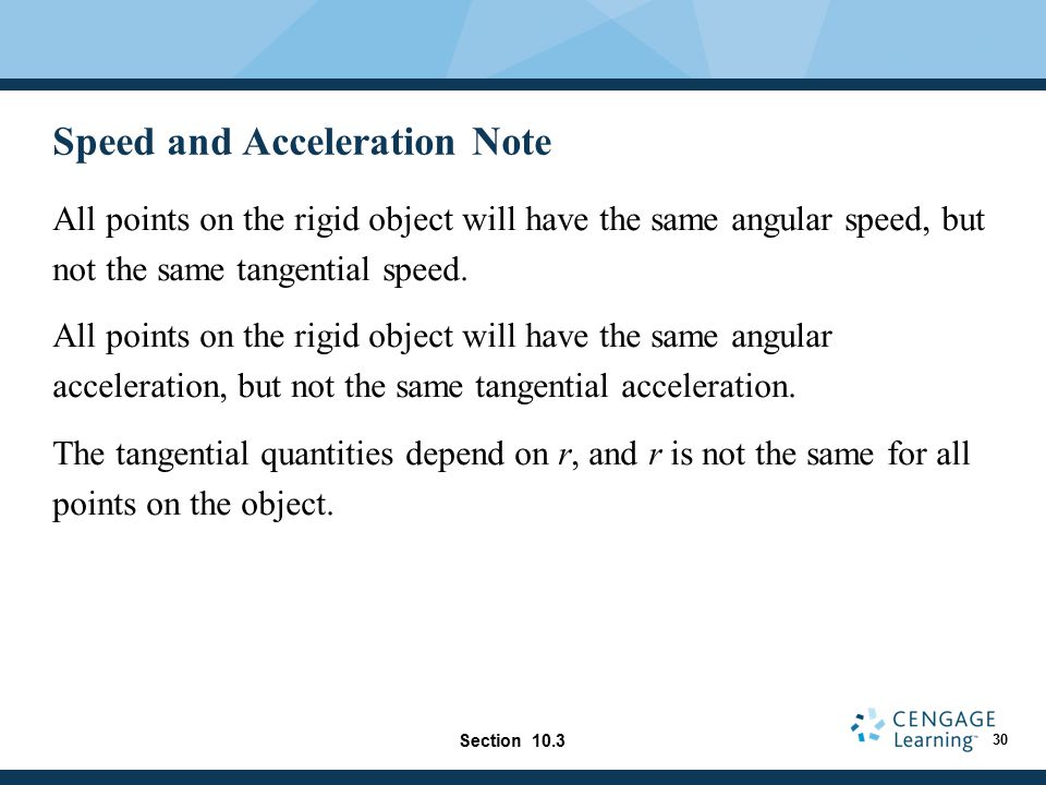 Speed and Acceleration Note
