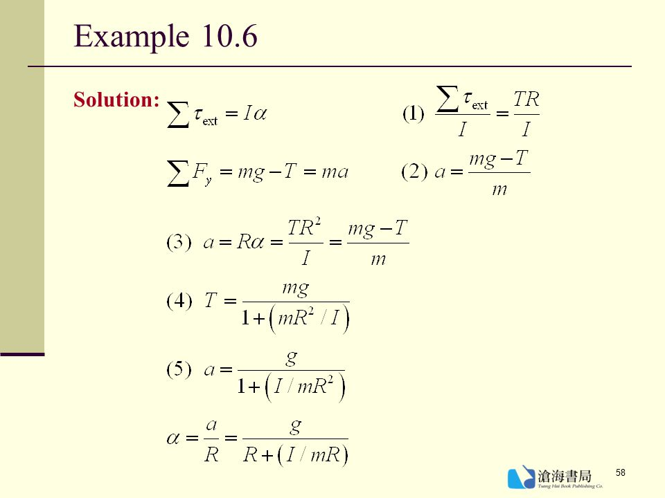 Example 10.6 Solution: