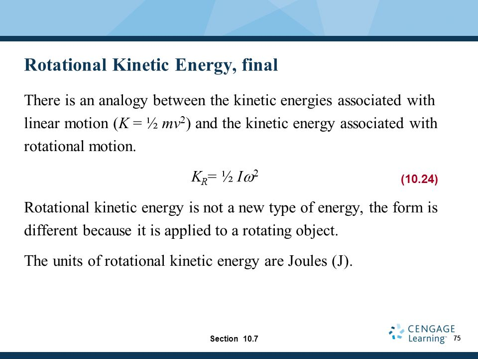 Rotational Kinetic Energy, final