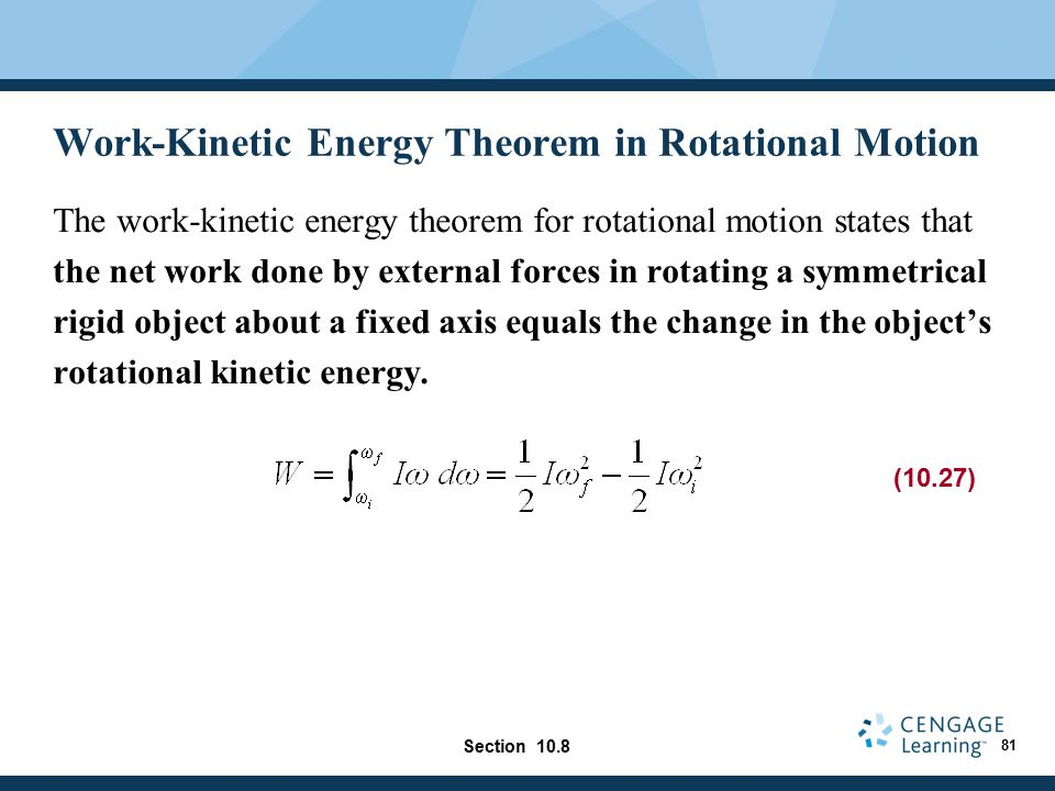 Work-Kinetic Energy Theorem in Rotational Motion