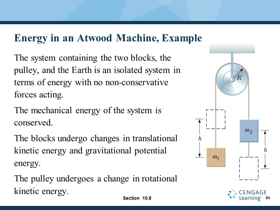Energy in an Atwood Machine, Example