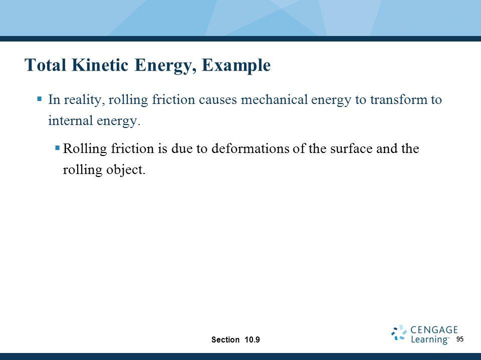 Total Kinetic Energy, Example