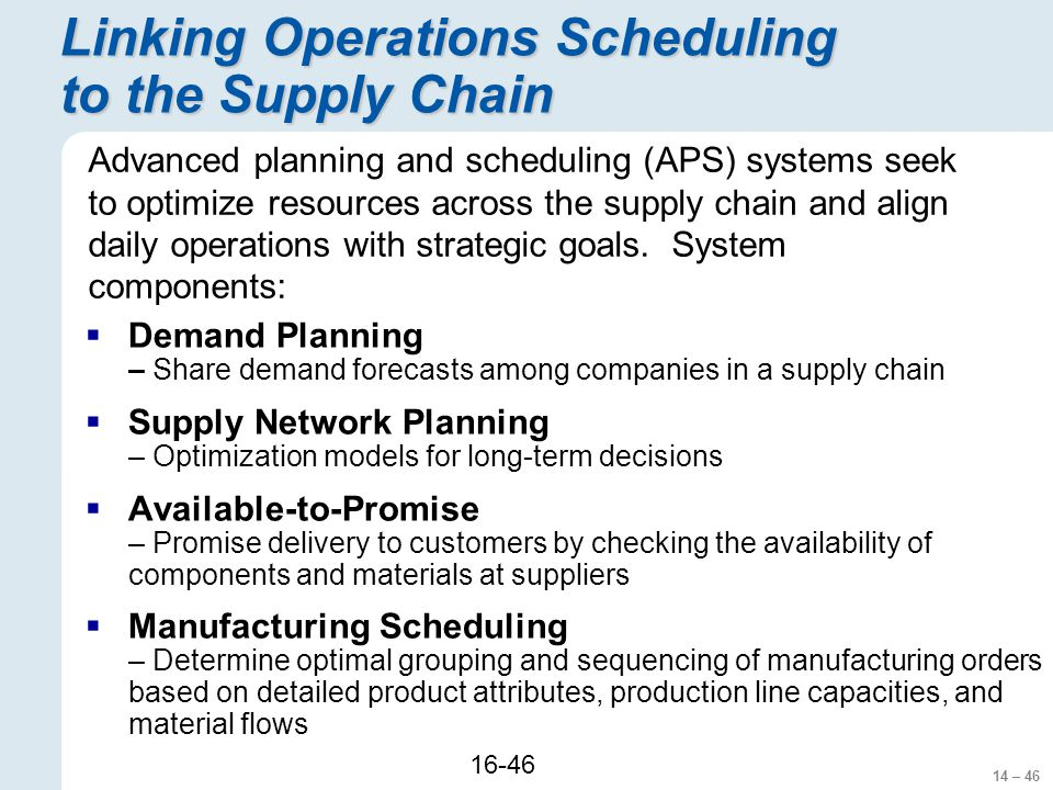 Operations Scheduling Ppt Download