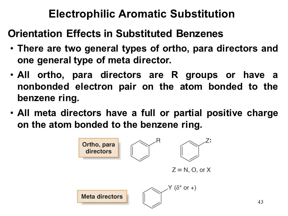 electrophilic aromatic substitution 2 essay We will write a custom essay sample on electrophilic aromatic substitution   aniline and phenol both formed a tri-substituted product in two ortho and one  para.
