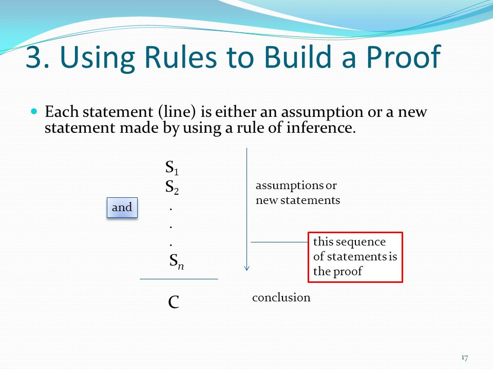 3. Using Rules to Build a Proof