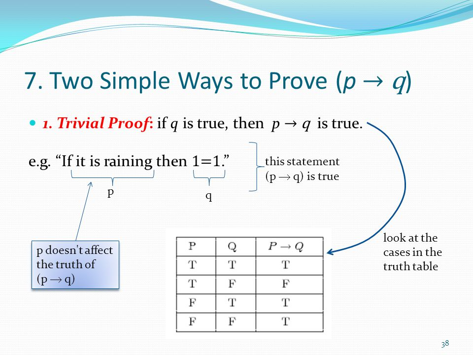 7. Two Simple Ways to Prove (p → q)