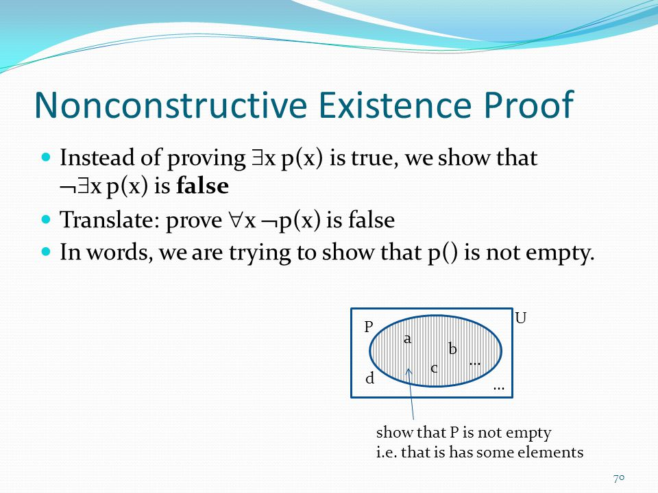 Nonconstructive Existence Proof