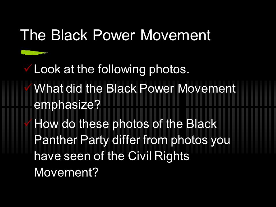 did the black power movement help