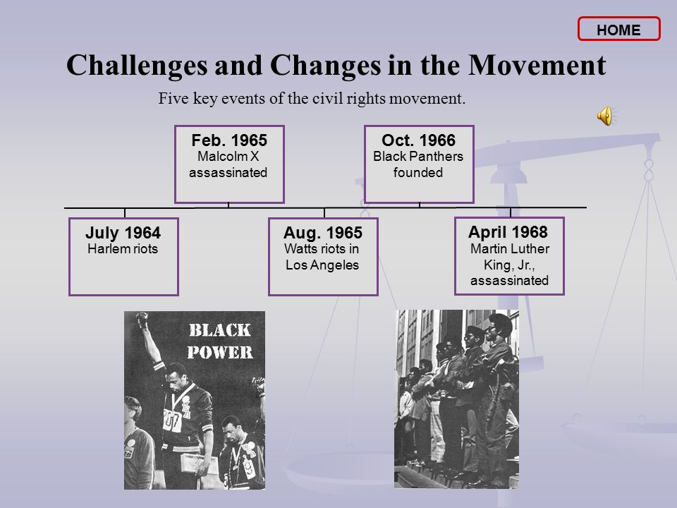 challenges and changes in the movement Freedom now: the civil rights movement in mississippi traces the history of the   the united nations: challenges and change helps students consider the.