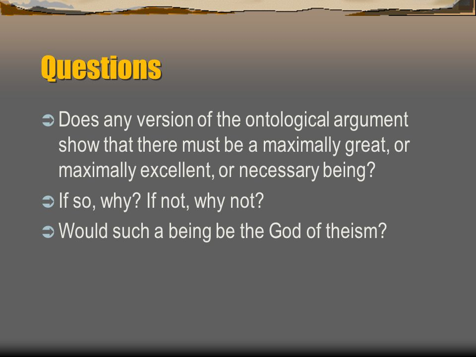 modern versions of the ontological argument The ontological argument descartes' version of the ontological argument kant's criticism fatally damaging to the ontological argument modern versions malcolm.