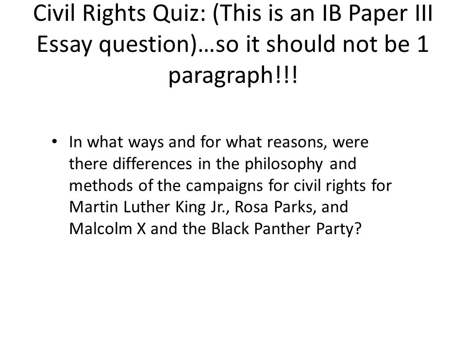 argumentative essay civil rights movement How to come up with interesting civil rights essay topics civil rights is an emotive subject that has divided opinion at all levels of society for decades.