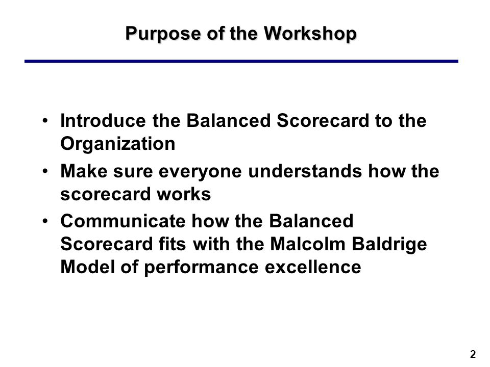 purpose of balanced scorecard Briefly, the balanced scorecard, popularized by robert kaplan and david norton, is a method for monitoring whether a company is meeting or will meet its strategic objectives key performance indicators (both lagging and leading) are broken into 4 areas of focus: financial, customers, operational and people.