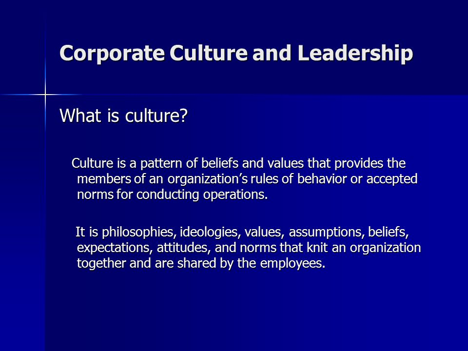 organizational culture is set of beliefs values and norms Levels of organizational culture (adapted from schein)  initially, a strong  culture was conceptualized as a coherent set of beliefs, values,  norms and  ways of doing things become so important that they begin to overshadow the  original.