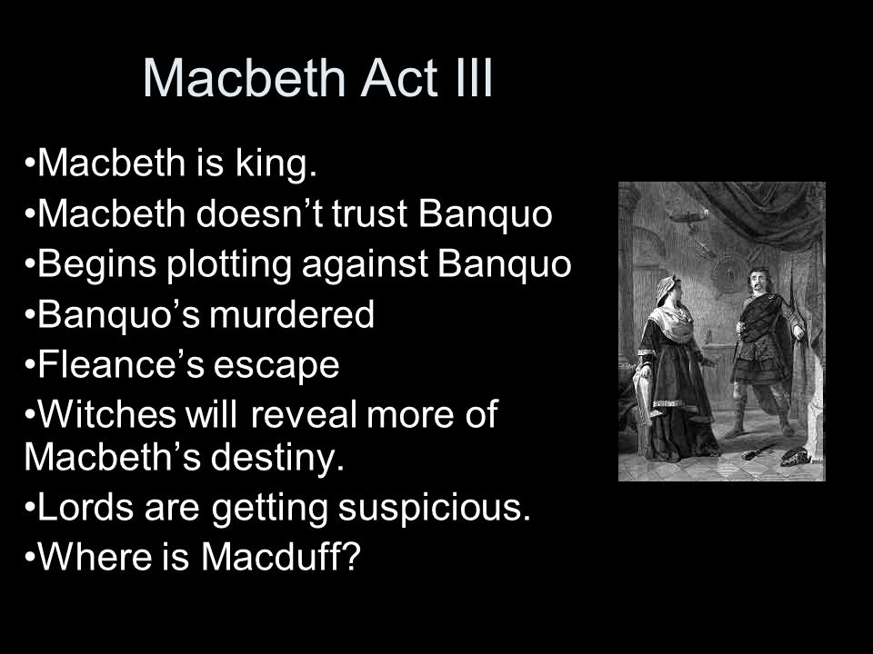 banquo essays Lord banquo / ˈ b æ ŋ k w oʊ /, the thane of lochaber, is a character in william shakespeare's 1606 play macbethin the play, he is at first an ally to macbeth (both are generals in the king's army) and they meet the three witches together.