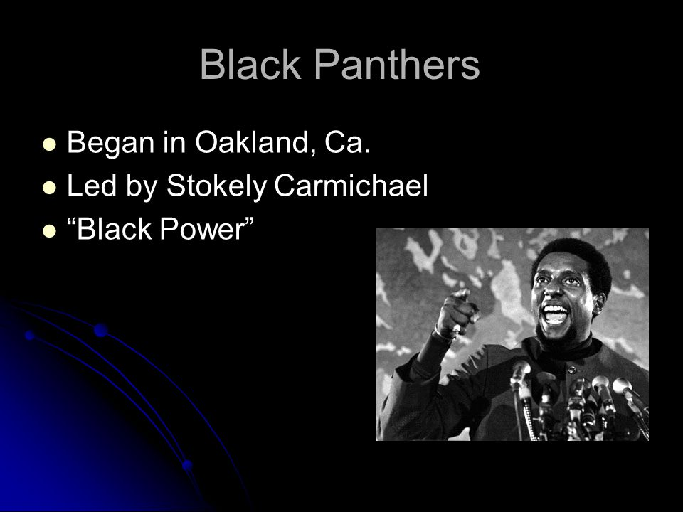 an analysis of stokely carmichael a view point Black leaders like martin luther king, jr and stokely carmichael led peaceful protests and sitins, often joined by non-blacks, advocating for greater representation and equality in law for blacks.