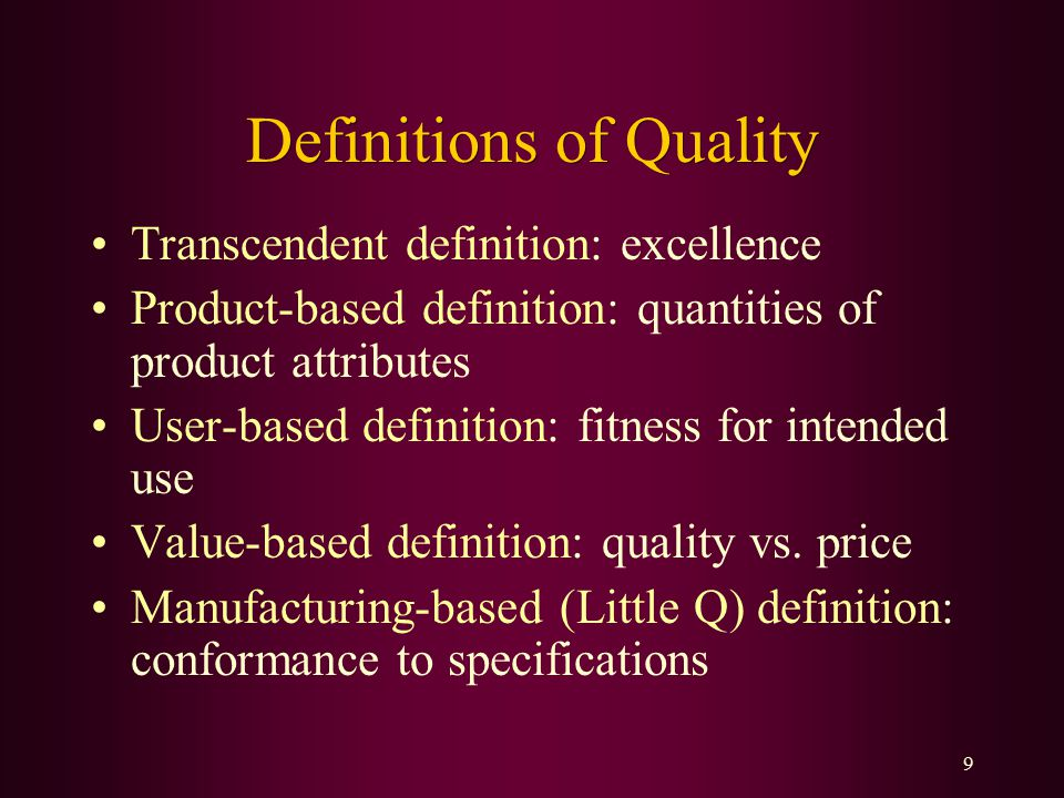 Introduction To Quality Ppt Video Online Download