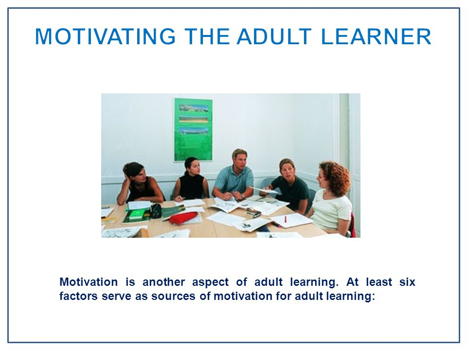 online learning and the adult learner Adult learners distance learning distance learning can include courses  delivered online, on tv, through the mail or off-campus online resources  available in.